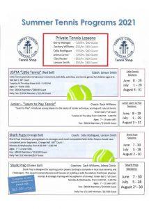 CCCC Summer Tennis flyer